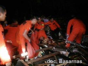 Basarnas Lampung evakuasi Korban Bencana Tsunami Kalianda Lamsel