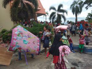 Dinsos Lampung Sigap Tangani Pengungsi di Kompleks Kantor Gubernur Lampung