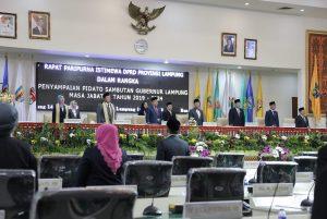 Ketua DPRD Lampung Pimpin Paripurna Visi Misi Gubernur dan Wakil Gubernur Lampung 2019-2024