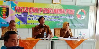 Kepala Dinas koperasi dan UMKM Provinsi Lampung, Dr. Agus Nompitu, S.E., MTP,