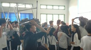 SMA Xaverius Bandarlampung Bersama Tagana Gelar Simulasi Bencana