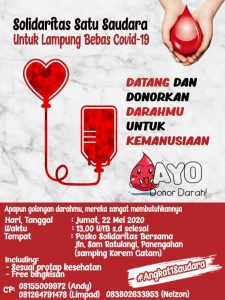 Stok Darah PMI Menipis, Ormas Katolik di Lampung Ajak Masyarakat Donor Darah