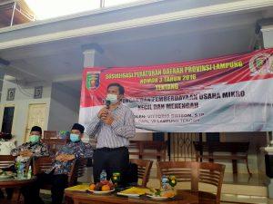 Vittorio Dwison Dorong Pemberdayaan UMKM Lampung Tengah Sebagai Solusi Dampak Ekonomi di Masa Pandemi Covid 19