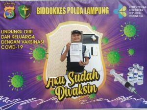 Kadiv Humas GPAN Provinsi Lampung Jamal Menjalani Suntik Vaksin Covid-19 Tahap Pertama