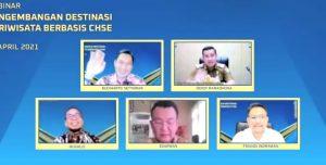 Bupati Pesawaran Dendi Ramadhona Ikuti Webinar Pengembangan Destinasi Pariwisata Berbasis CHSE