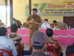 Bupati Lampung Tengah Musa Ahmad Kunker  ke Sp Way Terusan Kecamatan Bandar Mataram