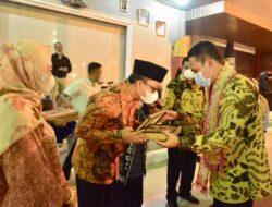 Bupati Lampung Tengah Musa Ahmad Terima Kunker Bupati Lamandau Provinsi Kalimantan Tengah H Hendra Lesmana