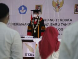 Terapkan Prokes Ketat Rektor ITERA Kukuhkan 4.674 Mahasiswa Baru Secara Daring