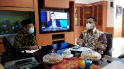 Abdul Hakim Kunker ke Bank Lampung, Berharap Bisa Sinergi dengan Bumdes, Terapkan Protokol Kesehatan
