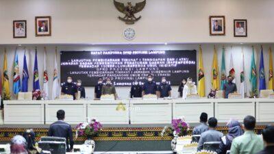 Gubernur Arinal Sampaikan Jawaban atas Pemandangan Umum Fraksi DPRD Terhadap 8 Raperda Prakarsa Pemerintah Provinsi Lampung