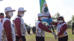 Bupati Pringsewu Melepas Atlet Pringsewu Berlaga di PON Papua 2021