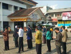 Tetap Terapkan Prokes Cegah Covid-19, Dinsos Lampung Apel Pengarahan dan Pembekalan Tenaga Kontrak