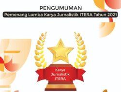 Lomba Jurnalistik ITERA Ajang Apresiasi Karya Jurnalis, Ini Nama Pemenangnya
